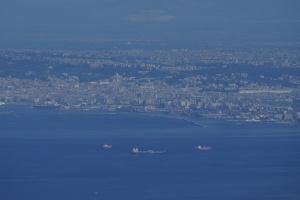 Il porto di Napoli - foto dal monte Faito obiettivo 300mm